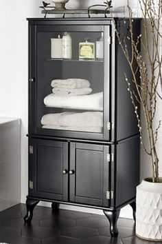 Black Hinged Cabinet//Country Door