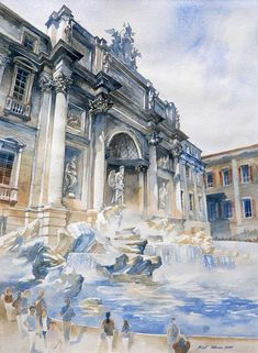 Fontana di Trevi by ~micorl on deviantART