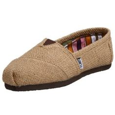 Burlap Toms??  Would totally wear these!!