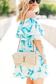 The perfect little aqua dress!