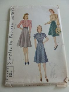 Antique Simplicity 3146  Two Piece Dress by VintagePatternDrawer, $9.95