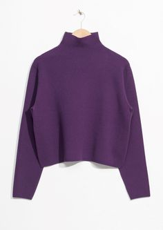 & Other Stories image 1 of Tight Turtleneck  in Purple