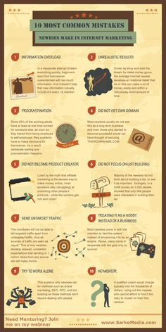 10 most common #mistakes newbies make in the internet marketing #infographic #internetmarketing https://www.domainki.com