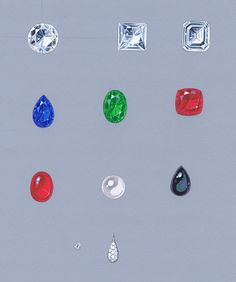 Diamonds and gemstones examples