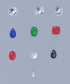 Diamonds and gemstones examples