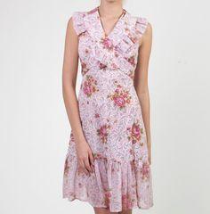 Women's Vintage 1970's Floral Halter Day Dress Size by Hemheist #vintage #dress