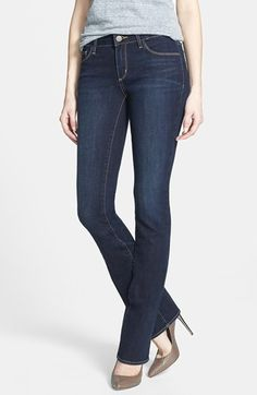 These are perfect, and only $88.00!  Treasure&Bond Slim Bootcut Jeans (Dark) available at #Nordstrom