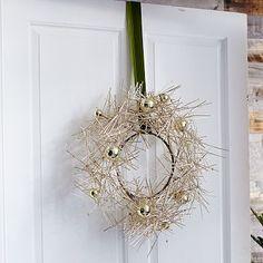Modern Tinsel Wreath #westelm