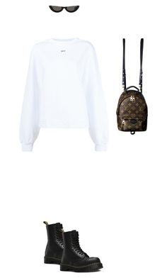 """""""Kasual kunt"""" by julsuxx ❤ liked on Polyvore featuring Off-White, PAWAKA and Dr. Martens"""