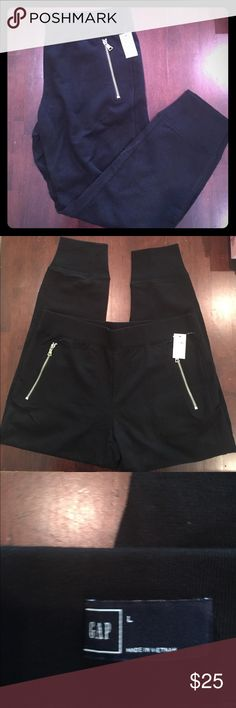 NWT gap black joggers pants 🆕brand new with tags adorable black GAP joggers- zippered pockets- elastic waistband and elastic around ankles. GAP Pants Track Pants & Joggers
