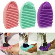UK Silicone Handy Cosmetic Makeup Brush Cleaner Glove Cleaning Brush Useful Tool in Health & Beauty, Make-Up, Make-Up Tools & Accessories | eBay