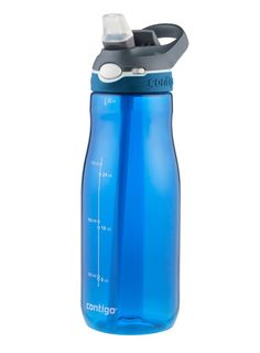 Sports Drink Bottle Contigo Ashland Water Blue Large Autospout Mug 32oz 946ml #Contigo