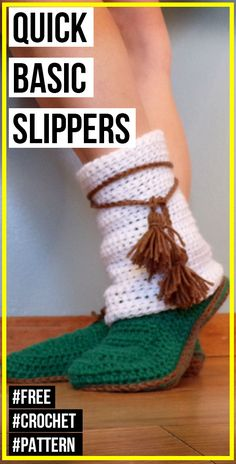crochet Quick Basic Slippers free pattern - easy crochet slippers pattern for beginners Learn How To Knit, How To Start Knitting, Knitting For Beginners, Easy Crochet Slippers, Crochet Slipper Pattern, Crochet Men, Quick Crochet, Making Scarves, Knitted Bags