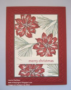 Laurie's Stampin' Spot: Watercolor Winter Christmas Card