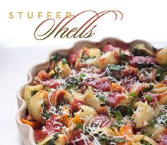 Healthy Stuffed Shells with Veggies @colavitaevoo @Colavita