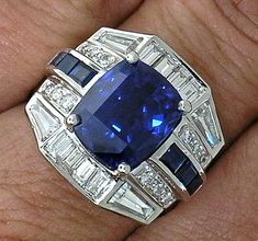 CARTIER 6.71ct Sapphire and Diamond Ring by myvintagediamondring