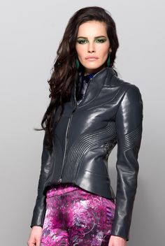 Daniele Bardis AW 14/15 collection (Andromeda jacket) leather fashion