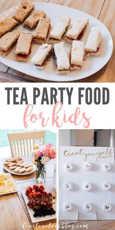 Golden Birthday Parties, Tea Party Birthday, Birthday Party Food For Kids, Fourth Birthday, Easy Kid Party Food, Birthday Ideas, Diy Party Food, Toddler Tea Party, Girls Tea Party