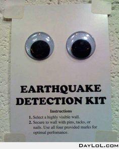 Earthquake detection kit