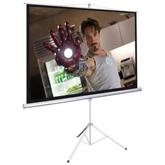 "100""4:3 Portable Tripod Projection Screen 78 x 59""Pull Up Projector Stand Floor Foldable Home Office - 16PJS015-M100R43-ST_buy"