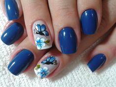 Borleta Azul com Flor