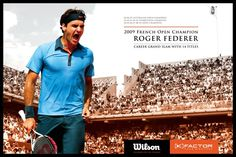 French Open Federer Poster