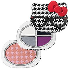Hello Kitty - Head Of The Class Palette $36.00  ~A palette of four eye shadows and blush, housed in an adorable preppy Hello Kitty shape.  I think my daughter would love this. :)