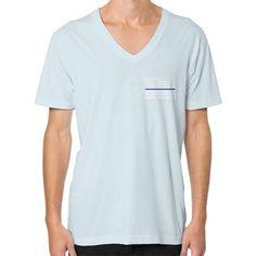 Back the Blue Police V-Neck (on man) shirt