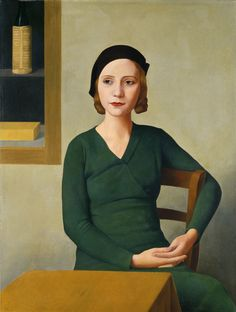 Antonio Donghi (Roma 1897 - Roma 1963), Donna al caffè, 1931, Venezia, Fondazione Musei Civici di Venezia, Galleria Internazionale d'Arte Moderna di Ca' Pesaro.