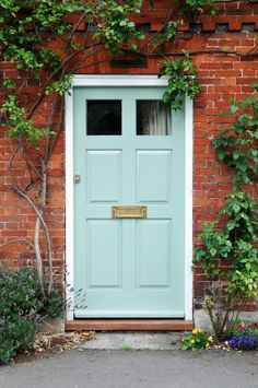 Beaufort Gardens from Mylands of London is a lovely fresh blue great for a front door.