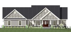 One Level Shingle Style House Plan - 77615FB thumb - 06