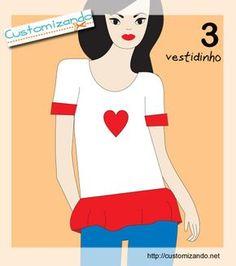 5 modelos de customização para fazer na sua camiseta - moda diy - faça você mesmo - cortes de camiseta customizada