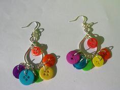 rainbow love button chandelier handmade