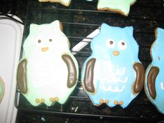 Owl butter cookies Baby Owls, Butter, Baby Shower, Cookies, Baby Sprinkle Shower, Crack Crackers, Biscuits, Baby Sprinkle, Cookie Recipes
