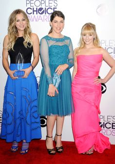 Kaley Cuoco, Mayim Bialik and Melissa Rauch.  I just love this and everything they're wearing.