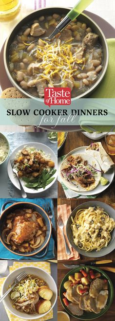 70 Slow Cooker Dinners For Fall (from Taste of Home)