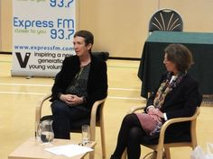 Crime authors, Pauline Rowson and Ann Cleeves on the afternoon panel at CSI Portsmouth where crime fiction meets crime fact - November 2012