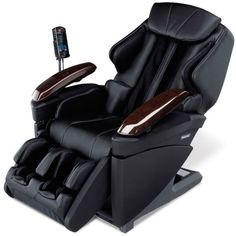 The only full-body massage chair that combines the invigorating touch of massage with the restorative sensation of hot stone therapy. Thermal rollers deliver concentrated warmth that increases blood flow to help soothe & relax sore lumbar muscles. Rejuvenating rollers travel from the neck to the waist, replicating style of Swedish massage or the deep-tissue kneading of Shiatsu. Internal sensors make a virtual map of the body so the rollers apply massage to ideal spots along the back and…