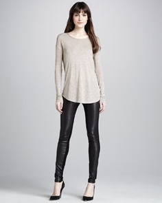T6NH5 Vince Skinny Leather Pants