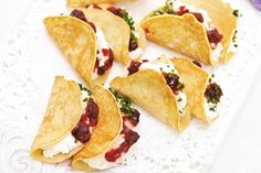 These luscious pancake filled with goat's cheese and sweet cranberry sauce make a glorious brunch or light lunch meal.
