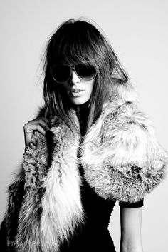 black and white style | black and white, fashion, faux, faux fur, fur - inspiring picture on ...