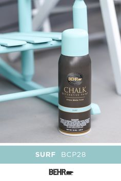 A new coat of spray paint can bring an old piece of furniture back to life. BEHR®Chalk Decorative Aerosol Paint offers great coverage over new or previously coated surfaces and doesn't require primer. Now available in 6 popular colors. Click below to learn more.