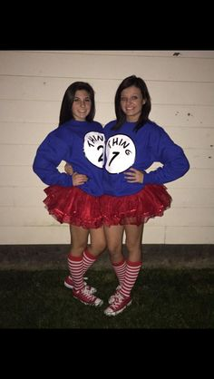 Thing 1 and Thing 2 teen costumes