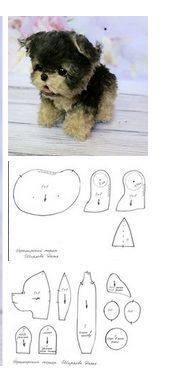 sewing stuffed animals Little York. Posted by Daria Shir … – Hund – - Stofftiere Teddy Bear Sewing Pattern, Plush Pattern, Dog Pattern, Sewing Toys, Sewing Crafts, Sewing Projects, Sewing Stuffed Animals, Stuffed Animal Patterns, Animal Sewing Patterns