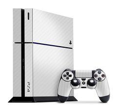 Playstation 4 Cover/Skin - Carbon Fiber White from Slickwraps