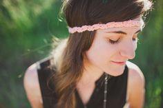 Crocheted Watermelon ZigZag Band Ladies Headband by ShopLadyLike, $8.00