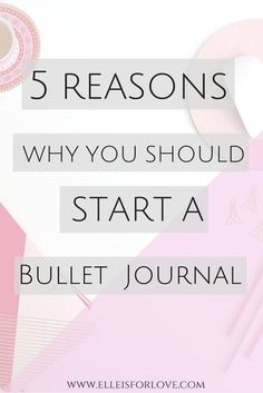 5 reasons why you should start a bullet journal. Your BuJo can be your best tool in your self-care, personal development and self-love arsenal because you can do so much with it. From organizing your brain and your life to having a gratitude journal or writing down good memories, a Bullet Journal is a versatile tool!