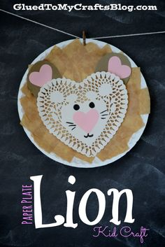 Paper Plate Lion {Kid Craft}