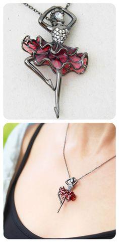 Necklace  ||  Sterling Silver Oxidised, Red Enamel, Cubic Zirconia  ||  Designer Gigi Cheng