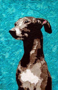 Regal Rupert (art quilt)  Copyright Beth Wade Design 2012